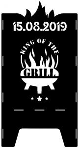 Beispielmotiv King of the Grill mit Datum