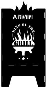 Beispielmotiv King of the Grill mit Namen